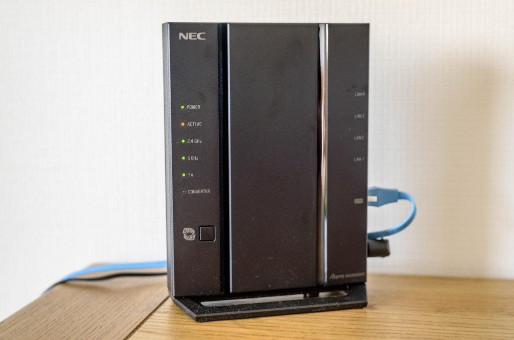 NEC PA-WG2600HP3 正面